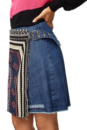 DESIGUAL Nell Embroidered Skirt - Front cropped