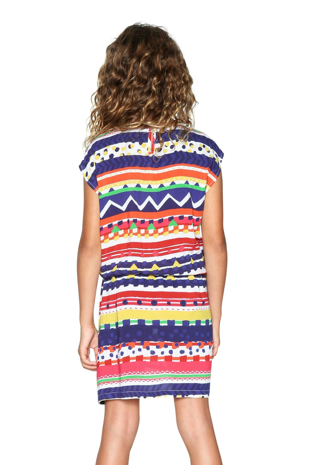 DESIGUAL Pattern Dress - Front Full Image