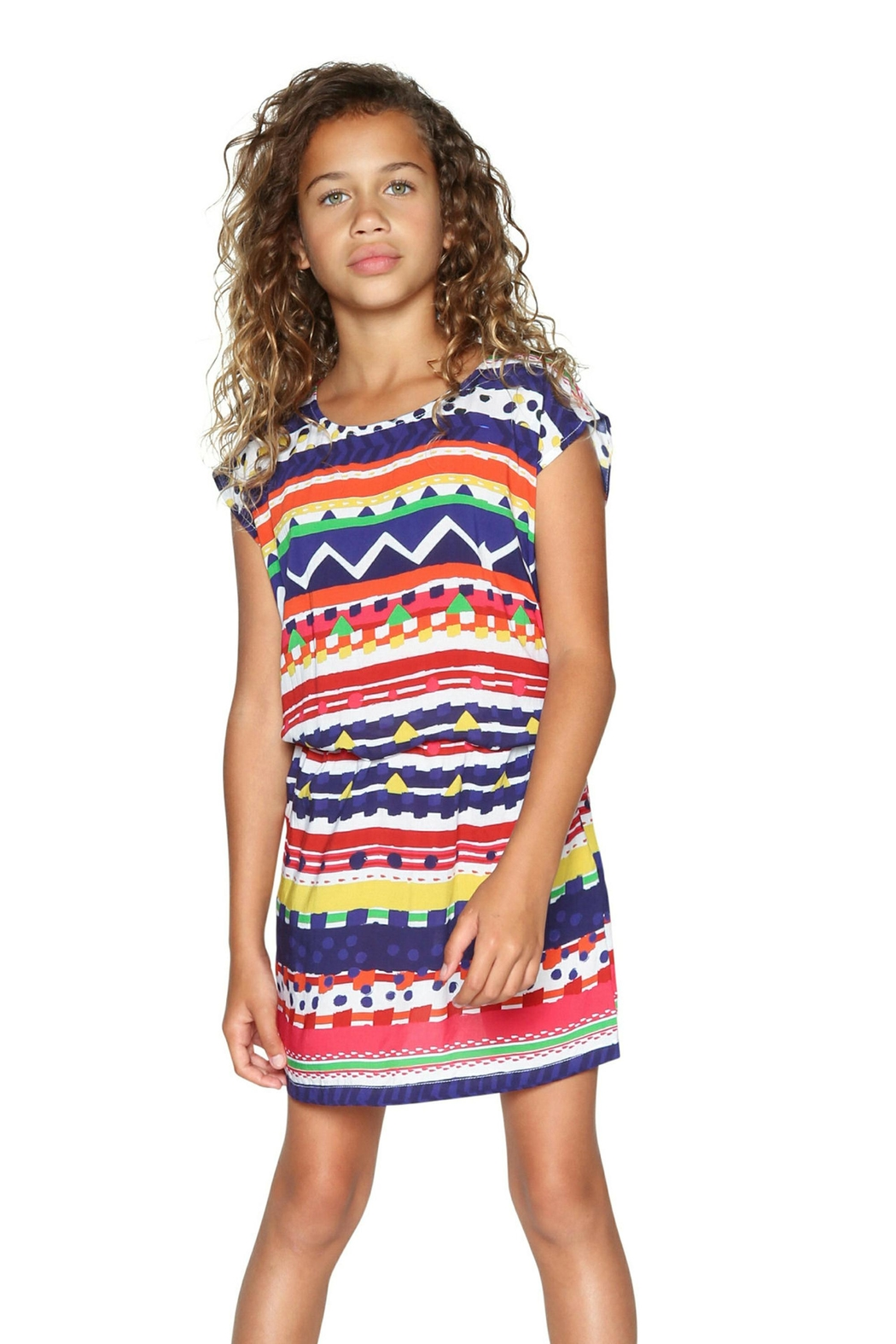 DESIGUAL Pattern Dress - Front Cropped Image