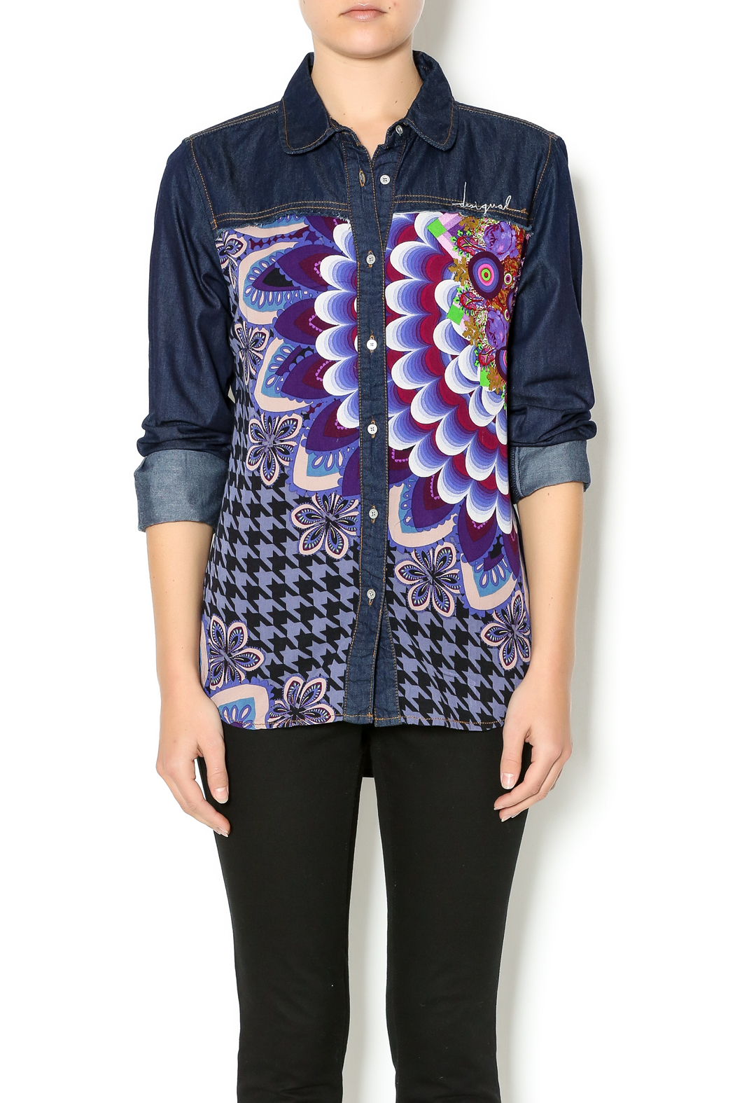 Printed Denim Shirt — Shoptiques