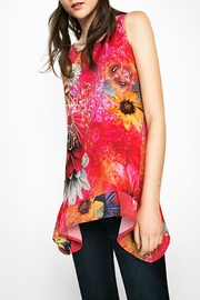 DESIGUAL Red Floral Tank - Product Mini Image