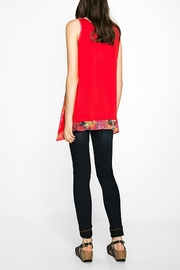 DESIGUAL Red Floral Tank - Side cropped