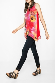 DESIGUAL Red Floral Tank - Back cropped