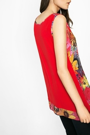 DESIGUAL Red Floral Tank - Other