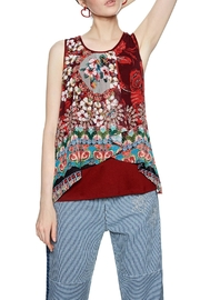 DESIGUAL Red Flowing Tank - Product Mini Image