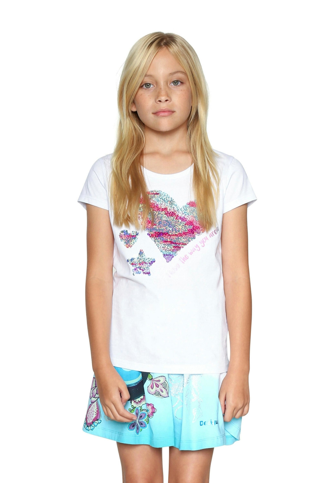 DESIGUAL Reversible Sequin Tee - Front Cropped Image