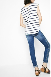 DESIGUAL Sailor Striped Floral Tee - Side cropped