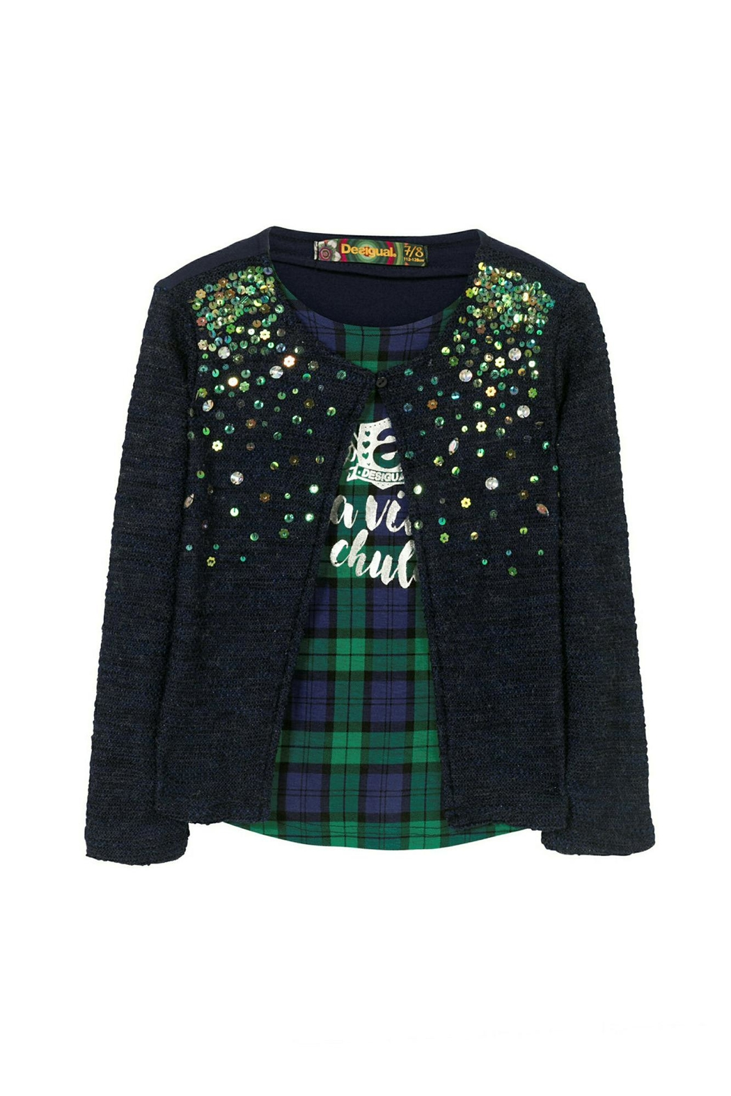 DESIGUAL Sequin Sweater - Front Cropped Image