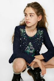 DESIGUAL Sequin Sweater - Front full body