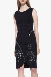 DESIGUAL Sweet Black Dress - Front cropped