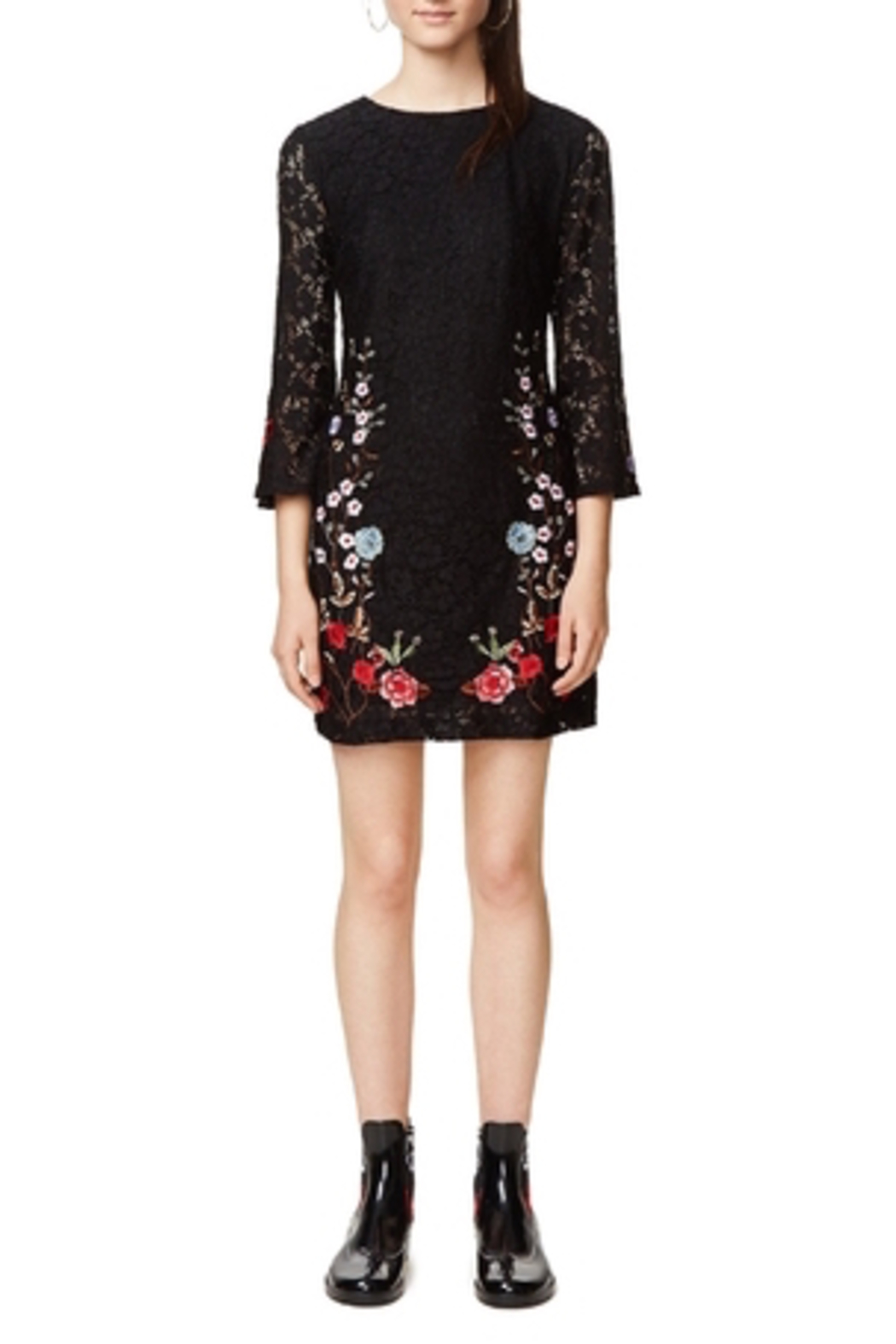 DESIGUAL Vermond Lacy Dress - Front Cropped Image
