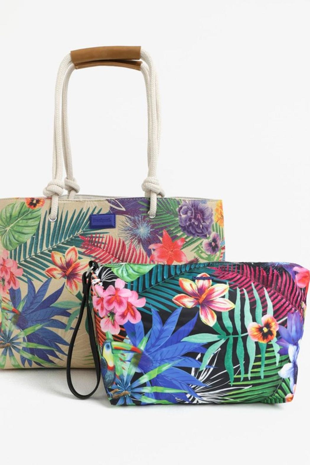 DESIGUAL Wanderlust Tropical Tote - Side Cropped Image