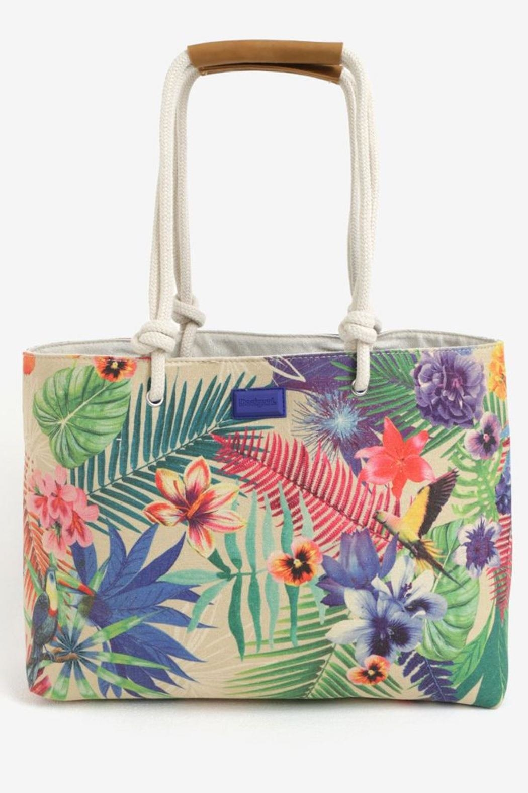 DESIGUAL Wanderlust Tropical Tote - Front Cropped Image