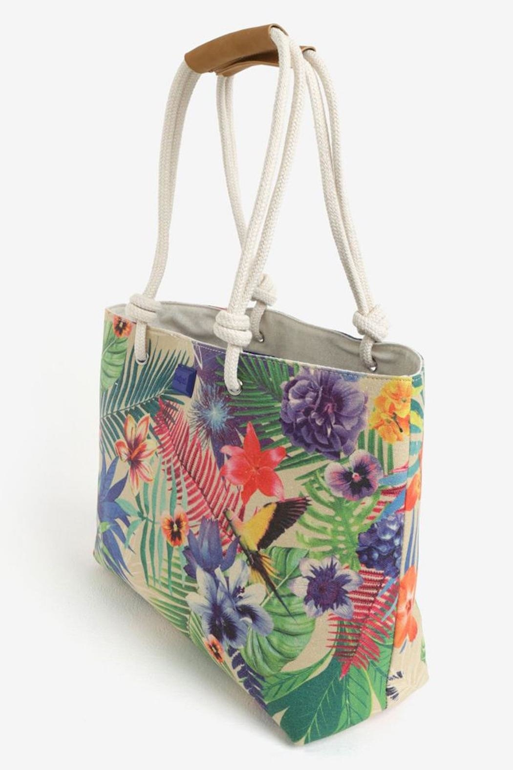 DESIGUAL Wanderlust Tropical Tote - Front Full Image