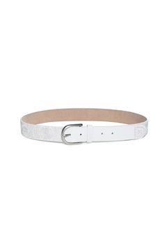 DESIGUAL White Embroidered Belt - Product List Image