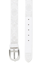 DESIGUAL White Embroidered Belt - Front full body