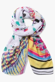 DESIGUAL White Multicolored Scarf - Product Mini Image