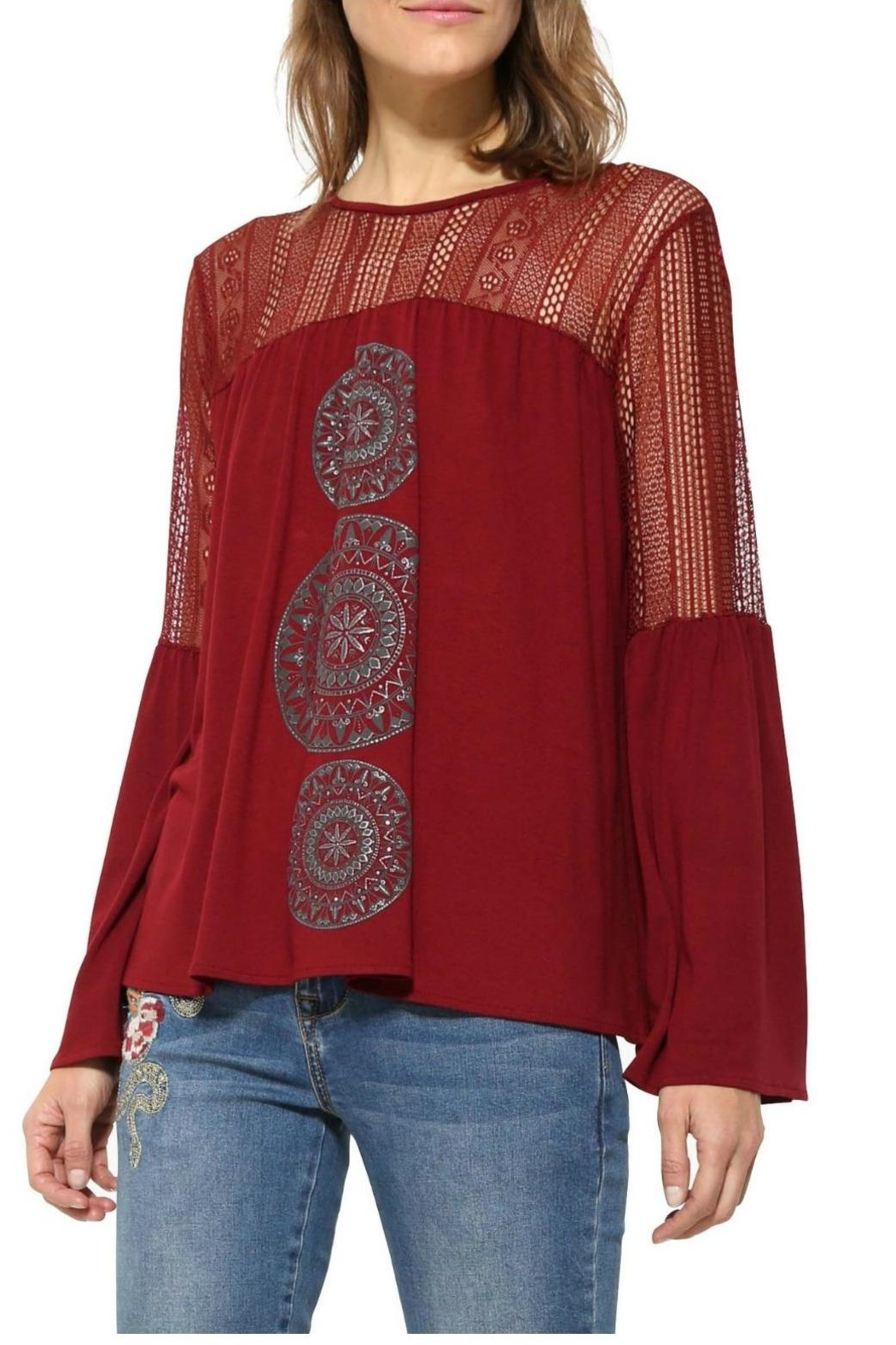 Desigual - Spain Bell Sleeve Blouse - Main Image