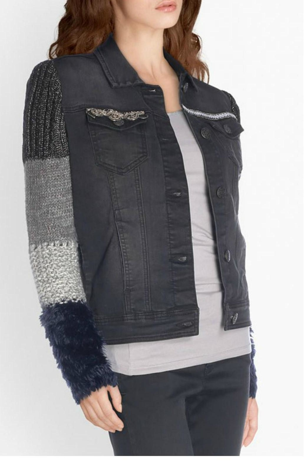 Desigual - Spain Black Denim Jacket - Main Image