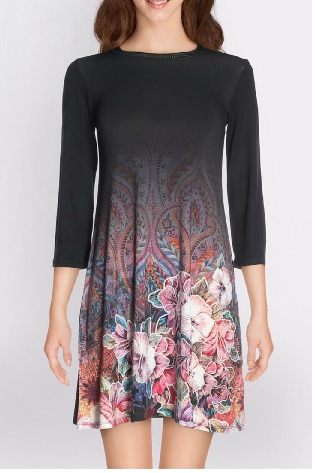 Desigual - Spain Black Floral Dress - Main Image