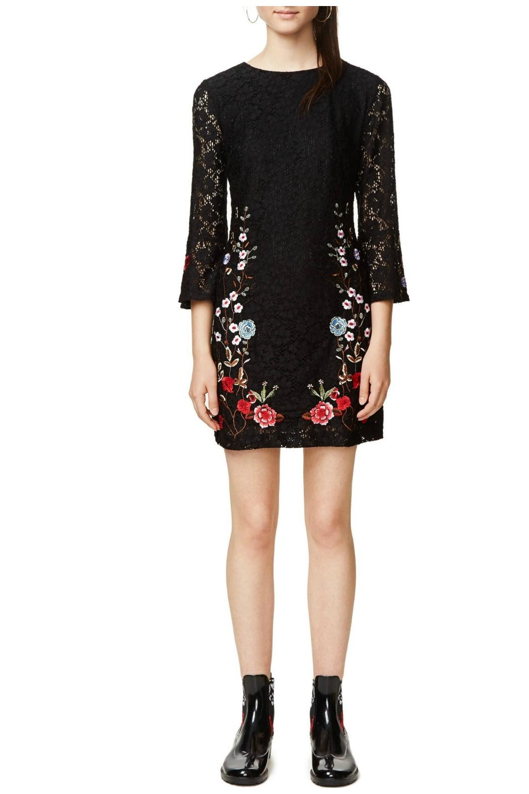 Desigual - Spain Black Lacy Dress - Main Image