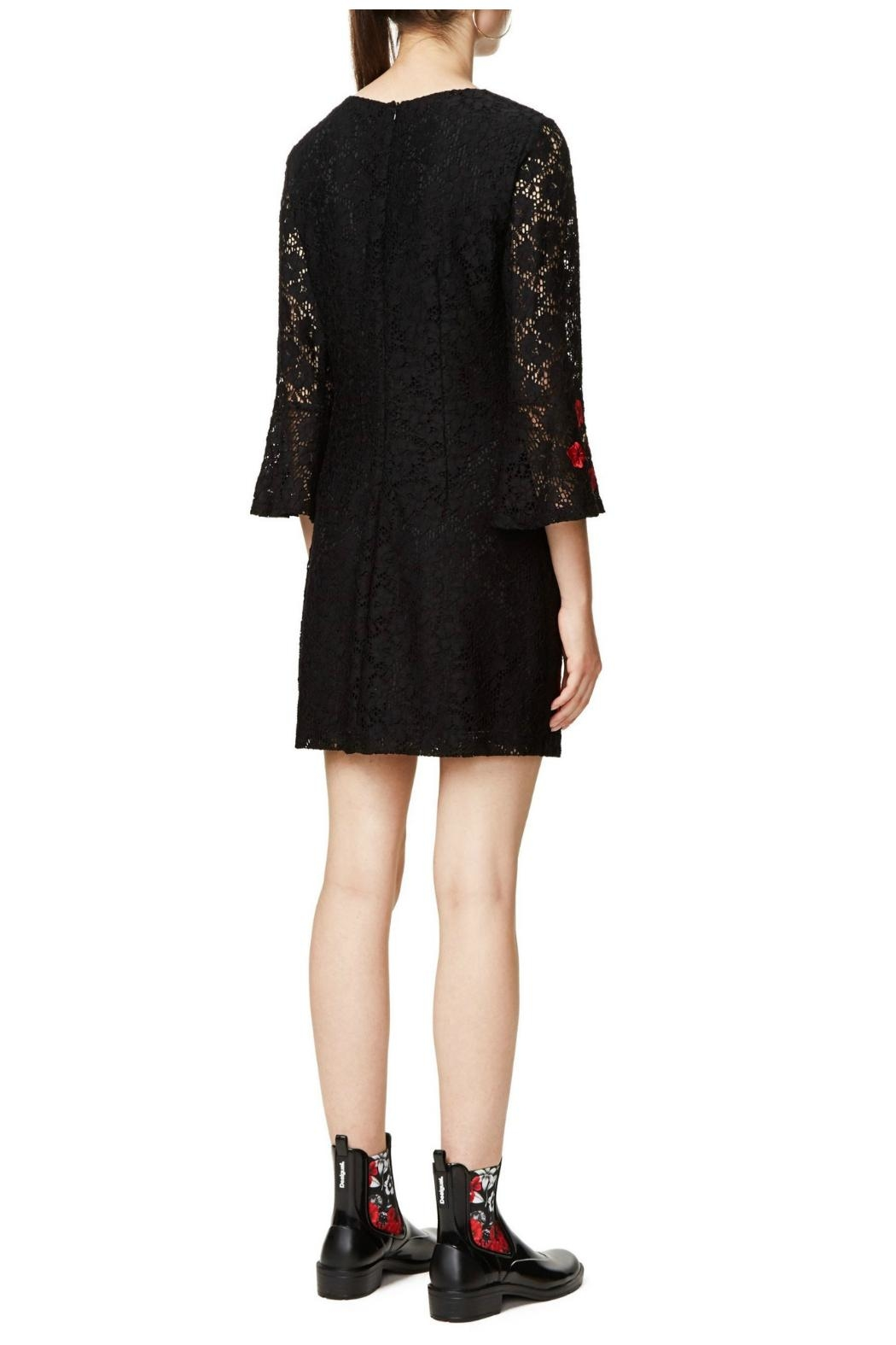 Desigual - Spain Black Lacy Dress - Side Cropped Image