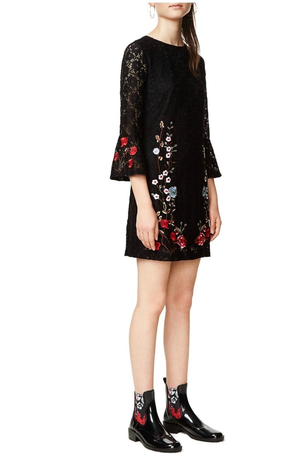 Desigual - Spain Black Lacy Dress - Front Full Image