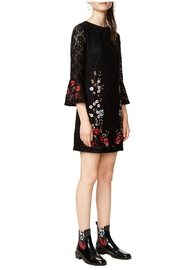 Desigual - Spain Black Lacy Dress - Front full body