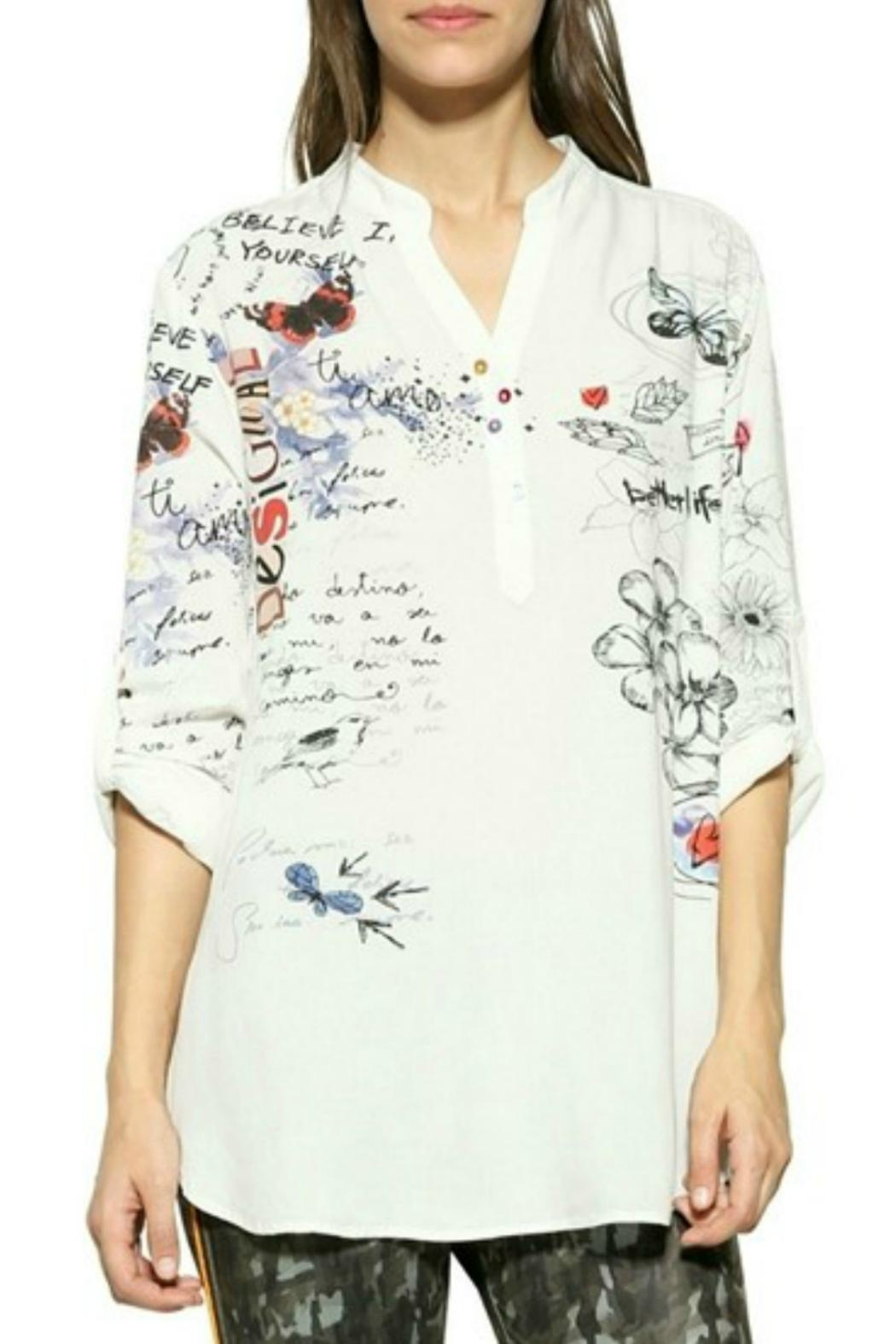 Desigual - Spain White Printed Blouse - Main Image