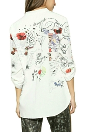 Desigual - Spain White Printed Blouse - Front full body
