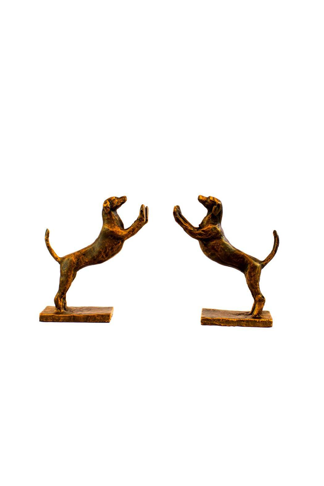 Dessau Brass Bronze Hound Bookends - Main Image