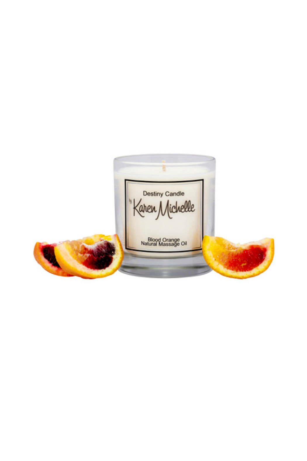 Destiny Candle by Karen Michelle Blood Orange Massage Oil Candle - Front Full Image