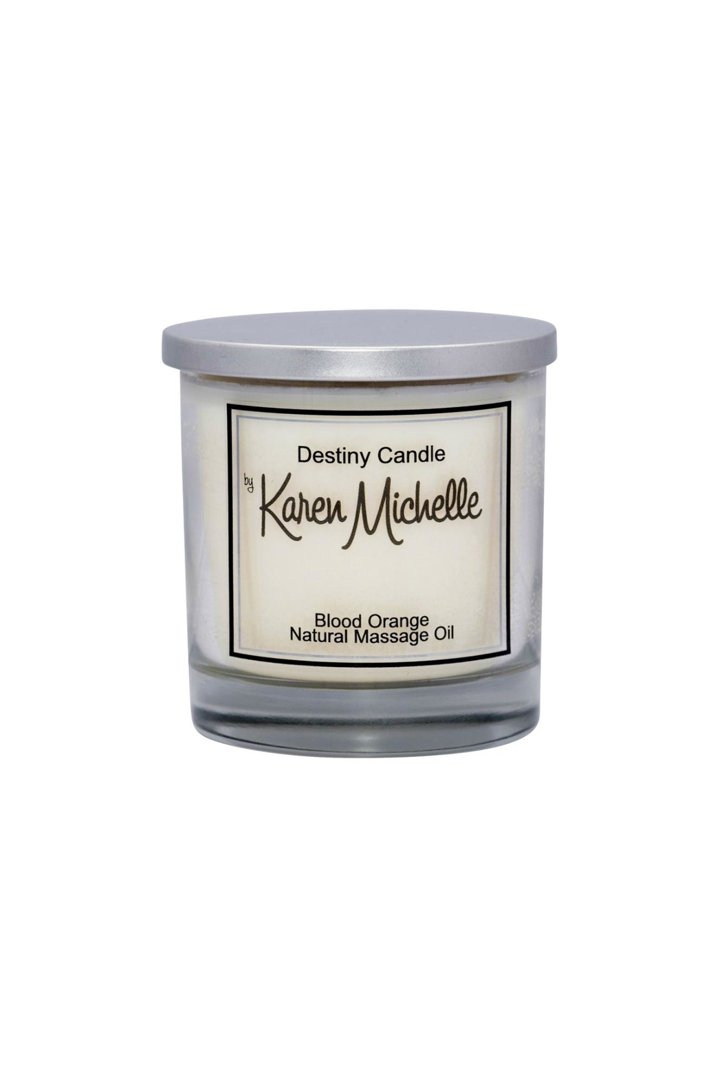 Destiny Candle by Karen Michelle Blood Orange Massage Oil Candle - Front Cropped Image