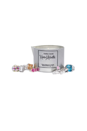 Destiny Candle by Karen Michelle Cherry Blossom Massage Oil Candle - Front full body