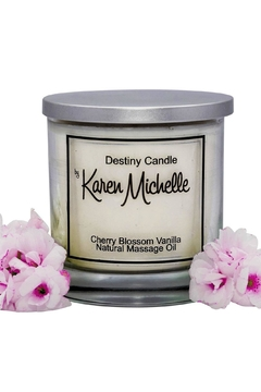 Destiny Candle by Karen Michelle Cherry Blossom Vanilla - Product List Image