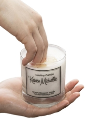Destiny Candle by Karen Michelle Cherry Blossom Vanilla - Front full body