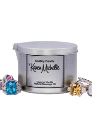Destiny Candle by Karen Michelle Coconut Vanilla - Front full body