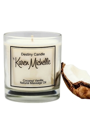 Destiny Candle by Karen Michelle Coconut Vanilla - Product Mini Image