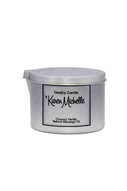 Destiny Candle by Karen Michelle Coconut Vanilla Massage Oil Candle - Product Mini Image