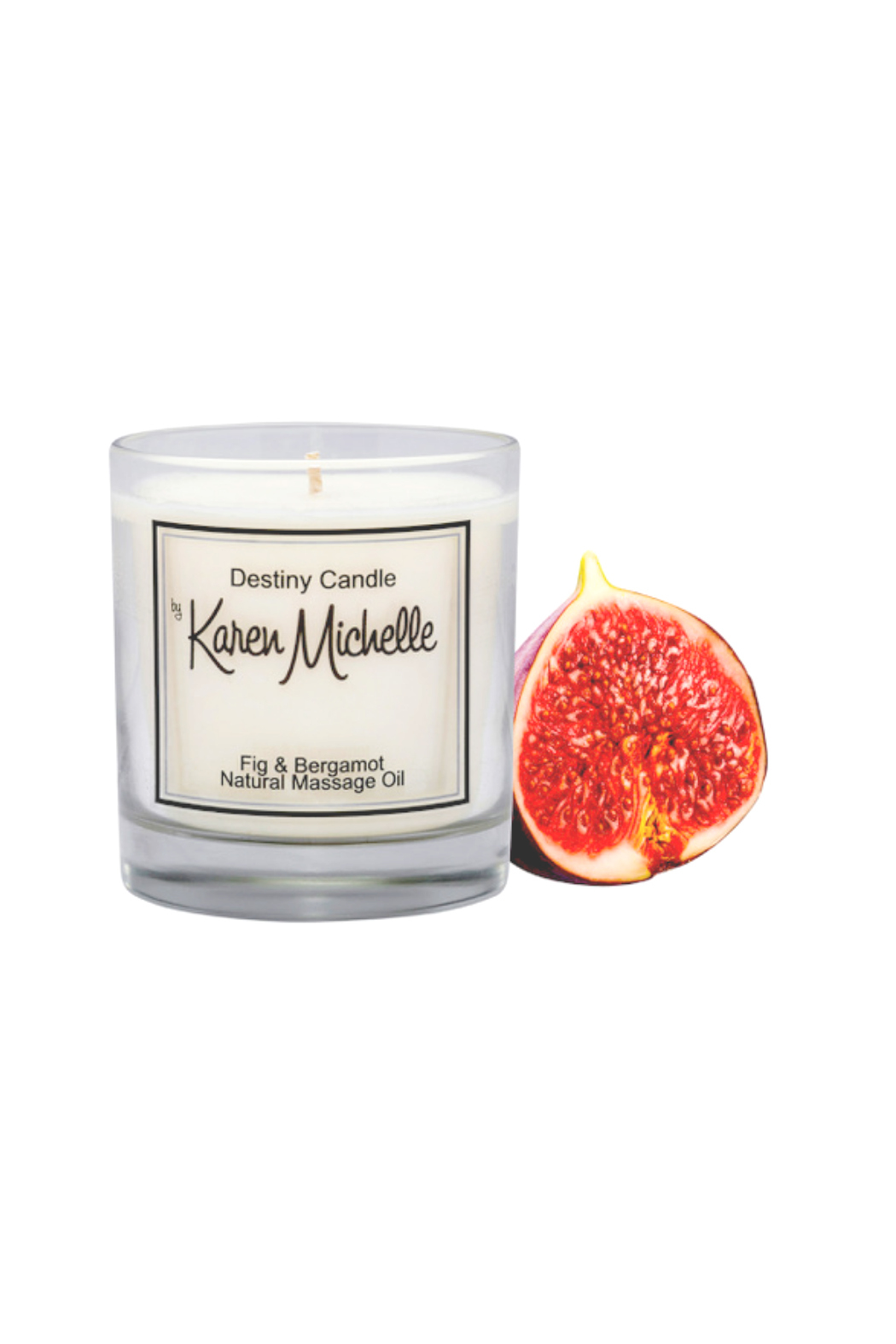 Destiny Candle by Karen Michelle Fig & Bergamot Oil Candle - Main Image