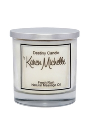 Destiny Candle by Karen Michelle Fresh Rain Massage Oil Candle - Front cropped