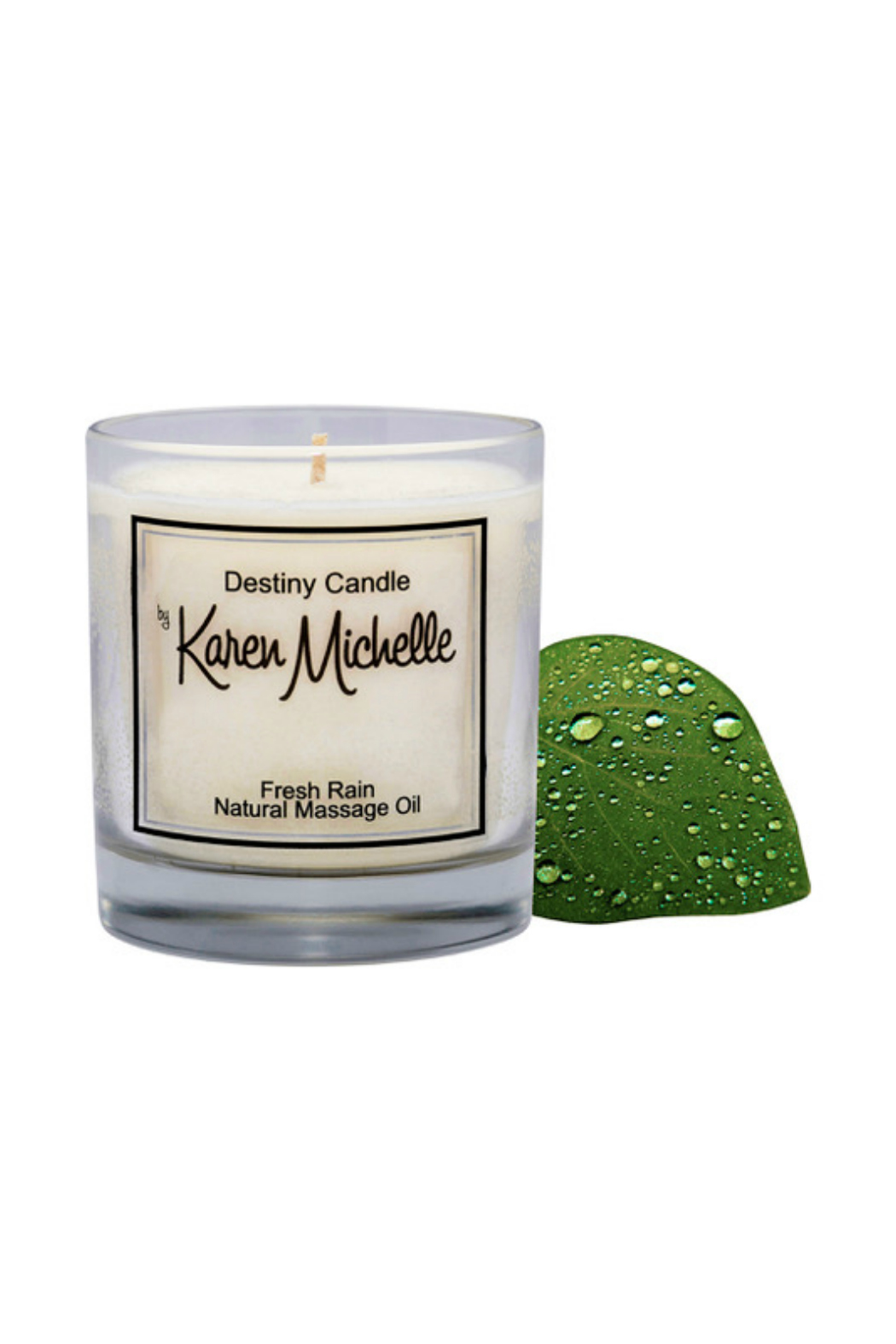 Destiny Candle by Karen Michelle Fresh Rain Massage Oil Candle - Side Cropped Image