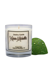 Destiny Candle by Karen Michelle Fresh Rain Massage Oil Candle - Side cropped