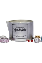 Destiny Candle by Karen Michelle Lavender And Frankincense - Front full body