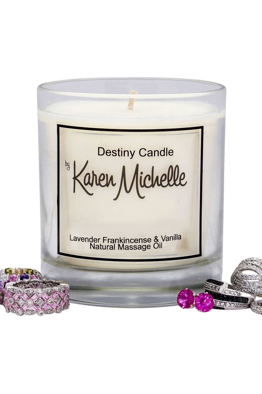 Destiny Candle by Karen Michelle Lavender And Frankincense - Front Full Image