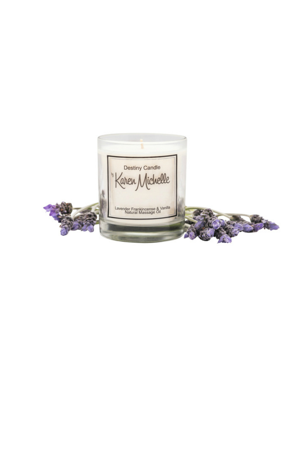 Destiny Candle by Karen Michelle Lavender & Frankincense Oil Candle - Front Full Image
