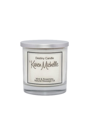 Destiny Candle by Karen Michelle Mint & Rosemary Oil Candle - Product Mini Image