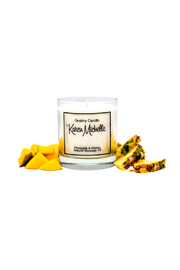 Destiny Candle by Karen Michelle Pineapple Mango Massage Oil Candle - Front cropped