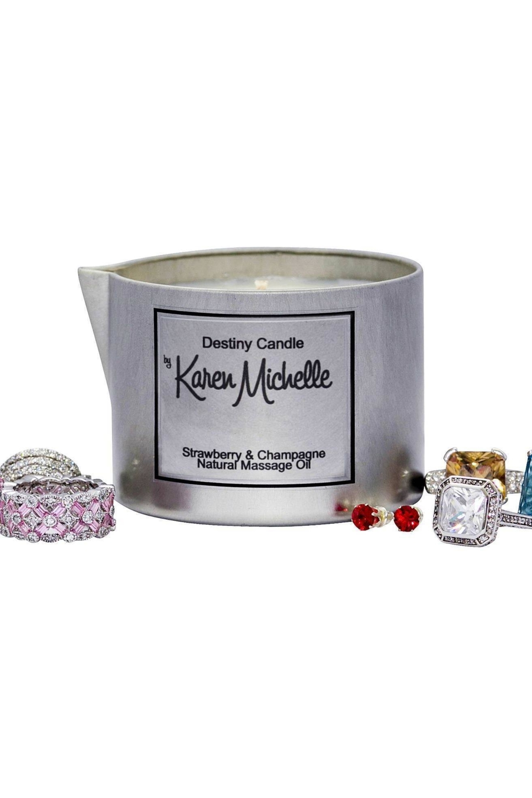 Destiny Candle by Karen Michelle Strawberry Champagne - Front Full Image