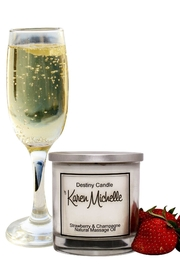 Destiny Candle by Karen Michelle Strawberry Champagne - Front full body
